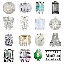 MiniSun Chandelier Lampshade Jewel Easy Fit Non Electric Ceiling Pendant Shade
