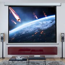"4:3/16:9 Motorized Projector Screen Cinema Home HD TV Matt White 84"" 100"" 120"""