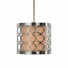Uttermost 22047 Harwich 1 Light Brushed Nickel Mini Pendant