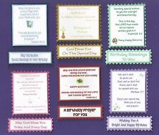 6 CHRISTIAN Birthday Greeting Card Verse Toppers W/WO Matching Sentiment Banners