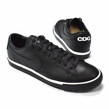 NWT Comme des Garcons Black Nike Blazer Low CDG Leather Sneakers Shoes AUTHENTIC