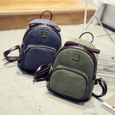 Cute Simple Travel Schoolbag Teenage Girls Women Backpack Casual Corduroy Bags