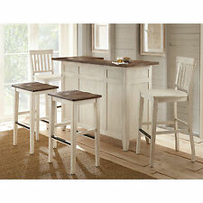"Mix and Match ""Distressed"" Bar, Chair or Barstools - Chestnut or Antique White"