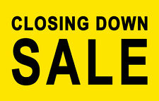 CLOSING DOWN SALE SIGNS, Wall & Window Business Retail Store Posters