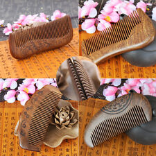 Beauty Anti-static Ox Horn Comb Natural Green Sandalwood Hair Of Hair Brush