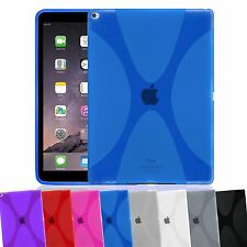 X-LINE WAVE TRANSLUCENT CLEAR TPU GEL BACK SOFT COVER CASE FOR APPLE IPAD AIR 2