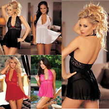 Sexy Women Lingerie Underwear Babydoll Sleepwear Dress G-string Nightwear 8020v8