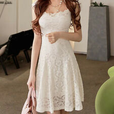 Women Lace Short Sleeve Party Cocktail Evening Bodycon Summer Sexy Mini Dress