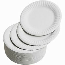 "WHITE PLASTIC PLATES 18cm, 23cm and 25cm 7"" 9"""