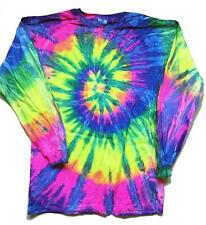 NEW TYE DIE  CRAZY RAINBOW COLOR ADULT SIZE long sleeve TEE SHIRT LST-10 DYED