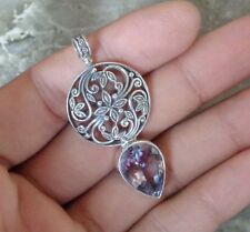 Gemstone Solid Silver, 925 Bali Handcrafted Pendant 28750
