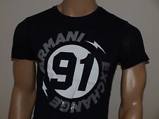 Armani Exchange Authentic Circle Logo  T Shirt Navy NWT