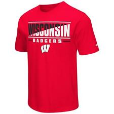 University of Wisconsin Badgers Men's T-Shirt Two Face Short Sleeve Tee