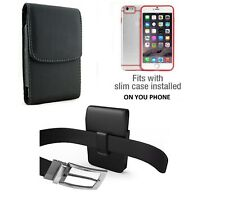 Vertical Leather Swivel Belt Clip Case Pouch Holster For Iphone Samsung Phones