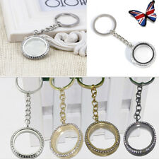 Charm Crystal Blank Split  Photo Picture Frame Locket Keyring Key Fobs chain New