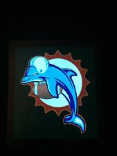 Dolphins Miami NFL Sound-Activated LIGHTS UP LED T-Shirt ALL SIZES Wireless