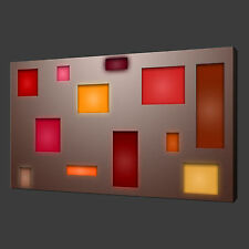 ABSTRACT BLOCKS QUALITY CANVAS PRINT WALL ART MODERN DESIGN READY TO HANG