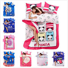 SALE Panda Sailor Flower Heart Bed Set Cotton Queen Double Duvet Quilt Cover L