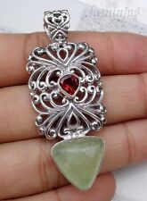 Gemstone Solid Silver, 925 Bali Handcrafted Pendant 25577