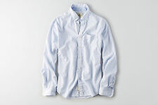New Men's American Eagle Outfitters Micro Striped Button Shirt Medium, Large, XL