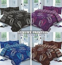 New Blake Luxury Stylish Printed Duvet Quilt Cover with Pillow Cases Bedding