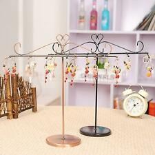 T shape Earring Bracelet Ring Necklace Metal Jewelry Display Stand Holder Rack