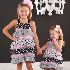 Mud Pie Baby Girls Bella Collection Ruffle Pageant Pink Black Dress 1142102 New