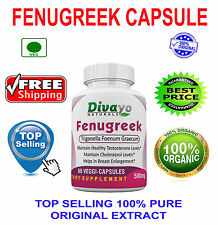 Fenugreek 500 mg Capsules Herbal Dietary Supplement Veg Capsule Free Ship