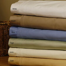 1000TC 100%EGYPTIAN COTTON 4 PC SHEET SET KING/CAL KING SIZE SOLID/STRIPED COLOR