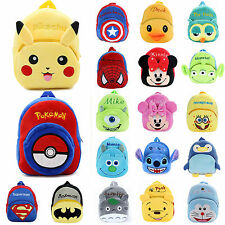 Toddler Kids Girls Preschool Mini Backpack Cartoon Plush Shoulder School Bags