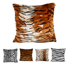 Animal Print Leopard Zebra Sofa Car Chair Decor Cushion Pillow Cases Covers ES