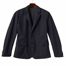 Sonoma Life + Style Black Canvas Mens Guys Blazer L
