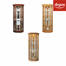 HOME Corner Glass 1 Door 4 Shelf Display Cabinet - Choice of Colour -From Argos