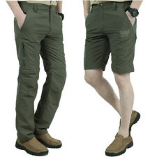 Mens Quick Dry 2-in-1 Outdoor Fishing Hiking Pants Shorts Zip Off Leg Trousers
