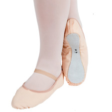 Pink canvas full sole ballet shoes - all sizes