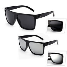 Retro Oversized Black Large Frame Sunglasses Mens Womens Fashion UV400 Eyewear