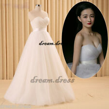 New Hot Sexy White/Ivory Wedding Dress Bridal Gown Size 6 8 10 12 14 16 18 20 22