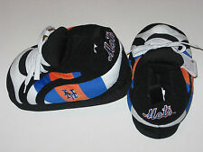 New York Mets Adult Size Fuzzy Non-Skid Plush Sneaker Slippers