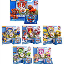Cute Paw Patrol Dog Pup Figures Backpack Projectile+Badge Kids Baby Boy Girl Toy