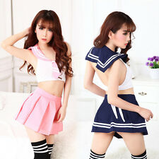 Hot Adult Women School Girl Student Sailor Costume Outfit Cosplay Fancy Dress
