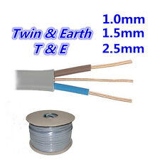 1.0/1.5/2.5mm Twin and Earth 3 Core Electrical Cable Wire 6242Y Required Length