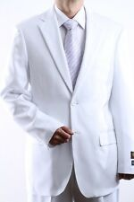 MENS TWO BUTTON SUPERIOR 100 WHITE DRESS SUIT BIG & TALL, SML-60212S-60212-WHI