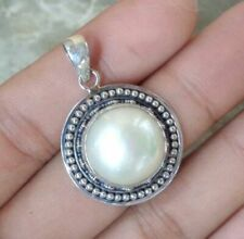Mabe Pearl Bali Handcrafted Solid Silver, 925 Pendant 27468