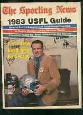 USFL GUIDE 1983-SPORTING NEWS-GEORGE ALLEN-TEAM ROSTERS G/VG