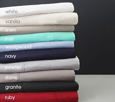"""Hotel Collection 650TC 100% Egyptian Cotton 4PC Sheet Set Solid 9"""" Deep Pocket"""