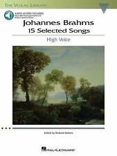 Johannes Brahms: 15 Selected Songs : The Vocal Library - High Voice (2008, Paper