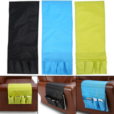 Foldable Couch Chair Arm Storage Bag Remote Control Glasses Caddy 4 Pockets ES