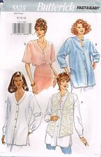 3324 Sewing Pattern Ladies Blouse Baseball Outfit Neckline sizes 8-10-12