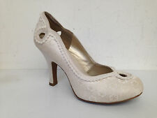 RUBY SHOO MILEY CREAM MEDIUM HEEL COURT SHOE