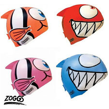 025943 Zoggs Kids Silicone Character Swimming Cap - Pink or Red